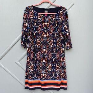 Vince Camuto Blue Paisley Shift Dress Size M